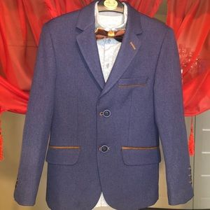 PALMIRO ROSSI boy's suit blazer+shirt with acces.